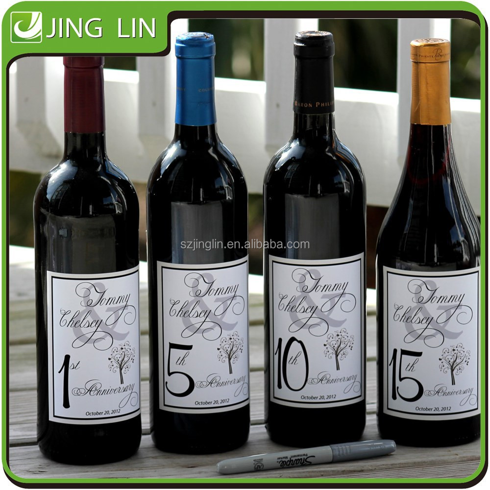 Wine bottle label makers,waterproof adhesive bottle sticker