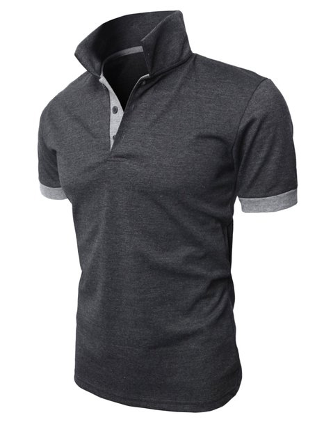 new fashion mens polo shirt 100% cotton grey polo t-shirt custom brand name