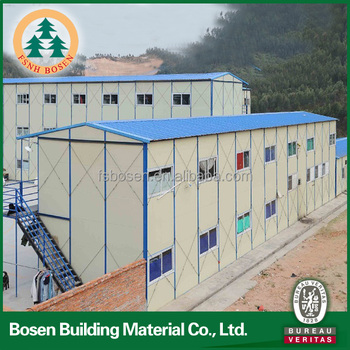 blue PU roof construction building project ready made house