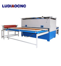 China manufacturer wood door cabinet PVC film vacuum hot membrane press machine with Becker pump