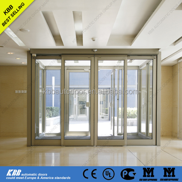 Automatic sliding door with low price with controller for Aluminum sliding glass doors price