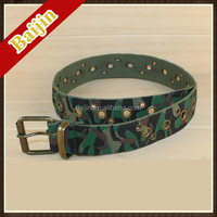 2014 latest fashion camouflage polyester canvas belt for kids