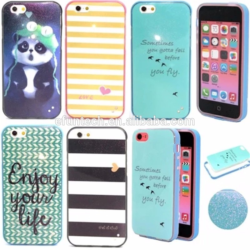 Wholesale price lovely painting PC frame TPU phone cover for iphone 6s plus