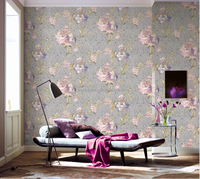 New style best sale pink flower vinyl wallpaper 2015