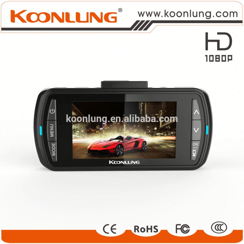 GPS WIFI dual camera full HD detached car DVR one key control car dvr
