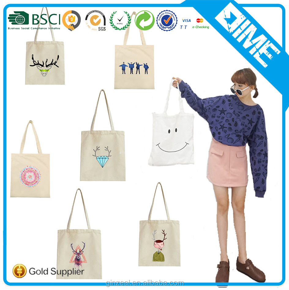 Trendy Cheap Designer Tote Cotton Shopping Bags