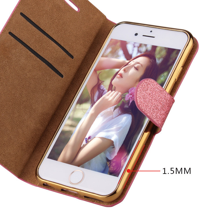 Newest arrival flip cover for iphone 6s plus case cover leather