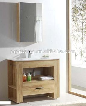 Moderno 90 cm legno massello di teak mobili da bagno buy product on - Mobili bagno teak ...
