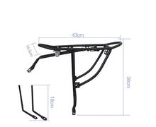 Customized whosale accessories bicycle rear rack bike rack carrier