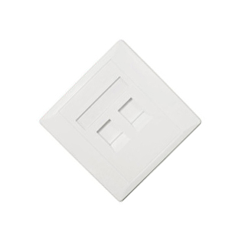 Durable RJ45 2 port network white face plate