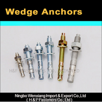 china manufacturer grade 4.8 galvanized steel wedge anchor bolts/expansion anchors
