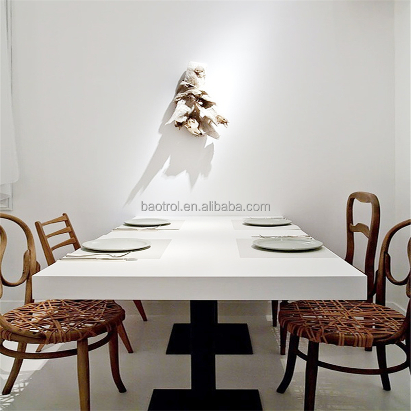 Japan restaurant table Dining Room Set 8 Seat Man Made Stone Table