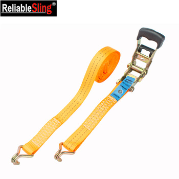35mm Orange Heavy Duty Lorry Straps with Ratchet Handle