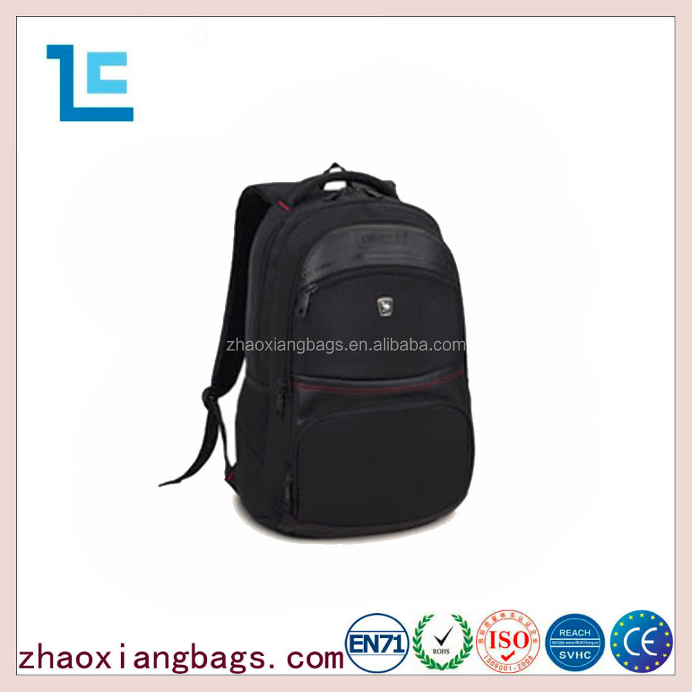 Zhaoxiang good quality 600D comfortable black laptop backpacks
