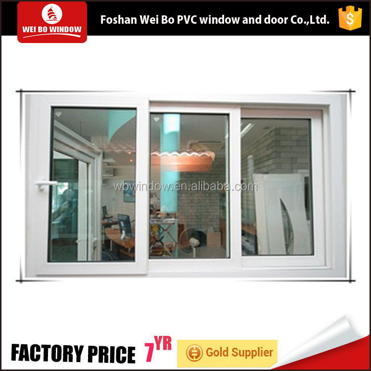 European style Windows Plastic material Vinyl sliding window for house
