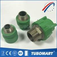 Reliable supplier TM260 ppr type B female / male adapter union with high temperature