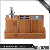 Fashionable Hotel Accessory Square Shaped Bamboo