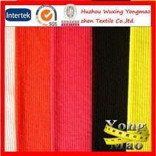 2015 huzhou city wholesale polyester tube rib knit fabrics