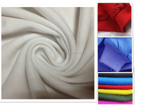 100% polyester 2x2 rib knit fabric