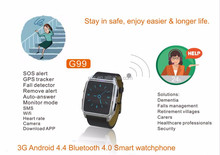 Simple Portable GPS tracking device sos fall alert 3g smart watch phone APK