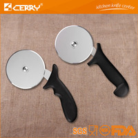 factory manufacture plastic handle pizza cutter with stainless steel kitchen tool and gadget