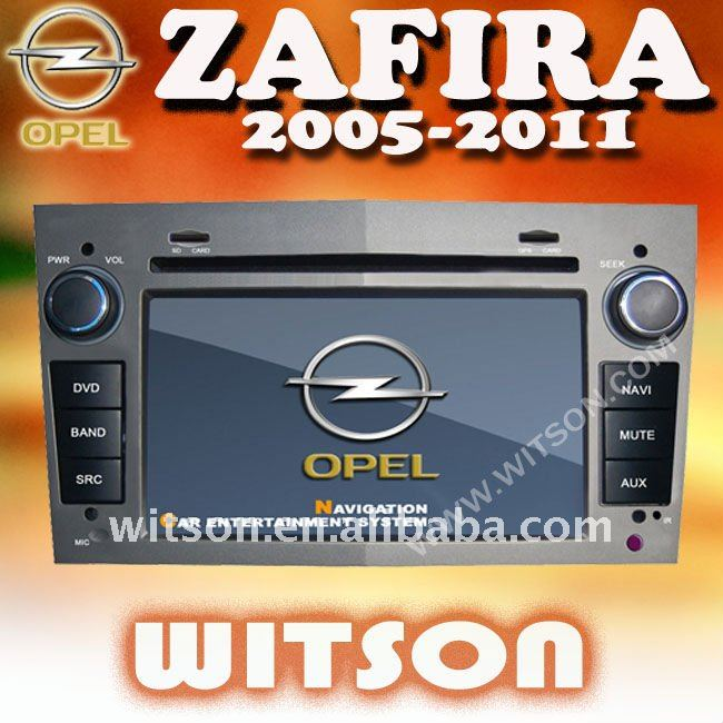WITSON OPEL ZAFIRA DVD GPS WITH BLUETOOTH with Steering Wheel Control