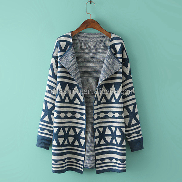 Fashion china supplier oversize no button sweater women's cardigans