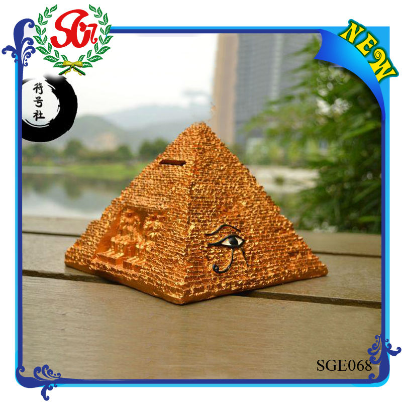 SGE068 Antique Pyramid With Eye Egyptian Home Decor