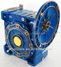 worm drive geared box with dc motor foot mount box gears