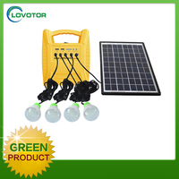 Portable small 10W 18V mini solar power system with solar light system kit