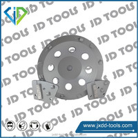 PCD wheels/PCD pads for epoxy removal