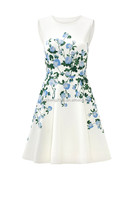 MIKA6017 Lovely White Floral print Dress