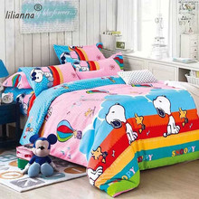 HOT SALE microfiber fabric 3d printed snoopy bedding set