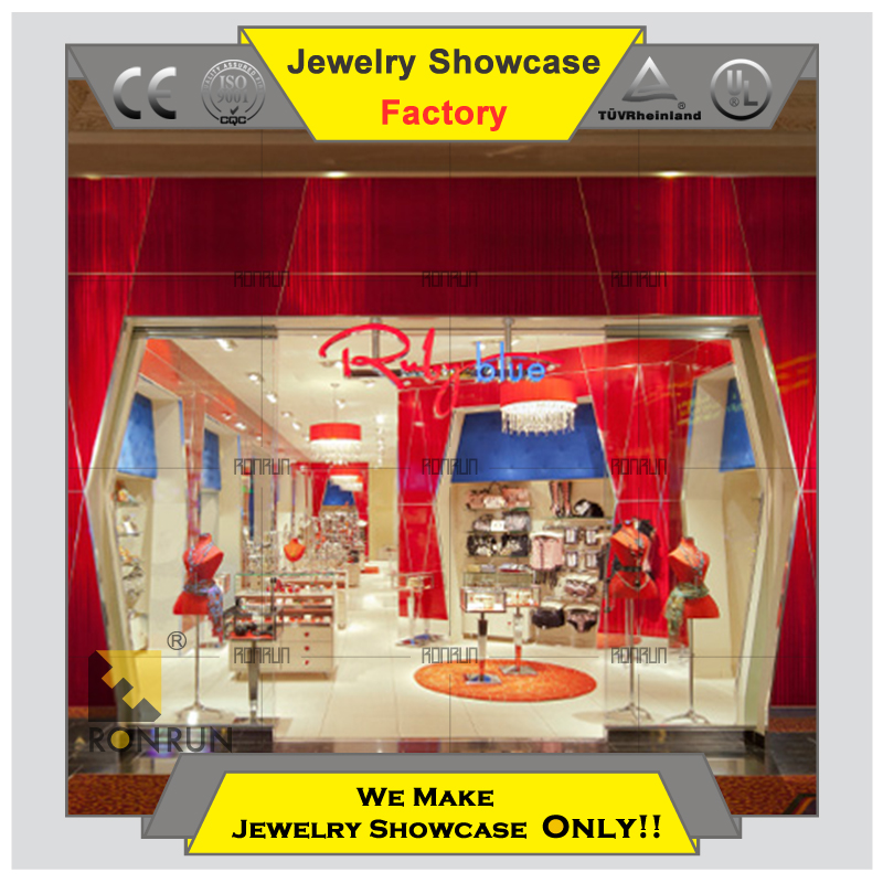 Top Grade 2015 brand name jewelry and watch boutique store display showcase jewelry store cabinet store counter