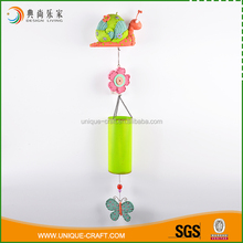 China craft supplies resin and metal colorful wind chimes