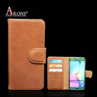Genuine leather cell phone case for samsung galaxy s6 edge wholesale