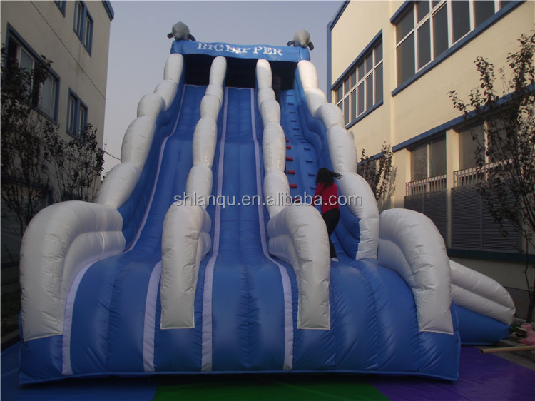 three lanes inflatable commercial water slide large water slide