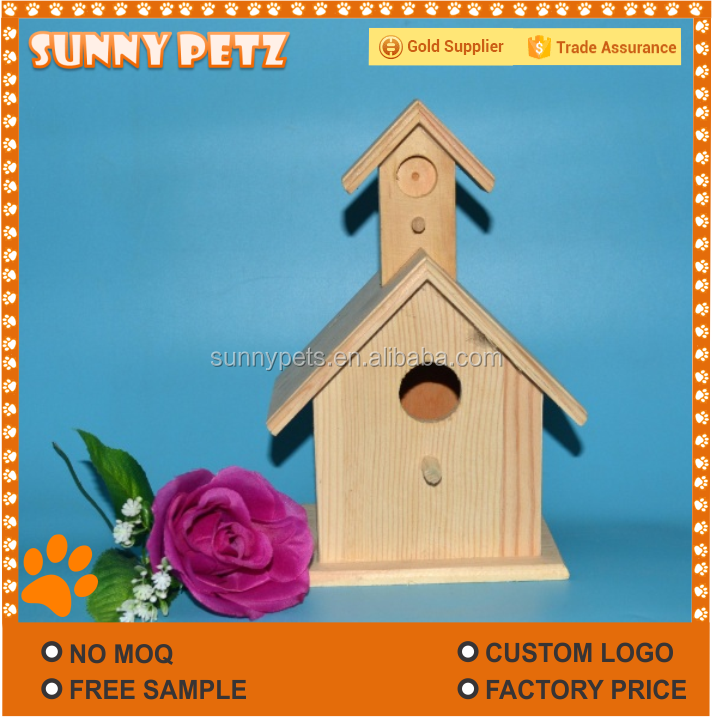 Wooden Pets Birds Love Nest Cages For Outdoor Garden