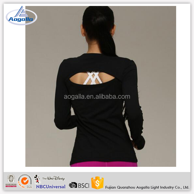 Fitness Running Sexy Back Leakage Long Clothing Female Sexy Photos