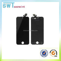 Cheap parts hot selling cell phone lcd for iphone 5 lcd+touch black good quality accept paypal