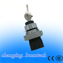 free shipping 10pcs xb2-bg21 2 position key operated selector selector pushbutton switch N/O push button switch