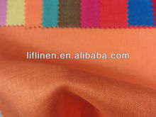 solid dyed 100% organic linen fabric