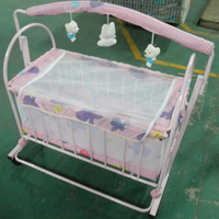 Popular design cheap prices folding baby crib sleeping bed