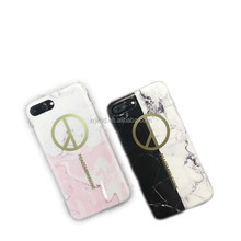 Peace Golden Stamping Marble Print IMD TPU Case for iPhone 6/7 iPhone 6 Plus/7 Plus