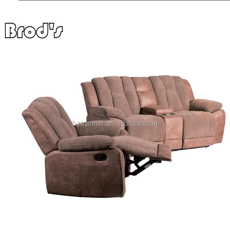 Modern New Design Big Luxury Corner Recliner Belgium Style Pu Leather Sofas