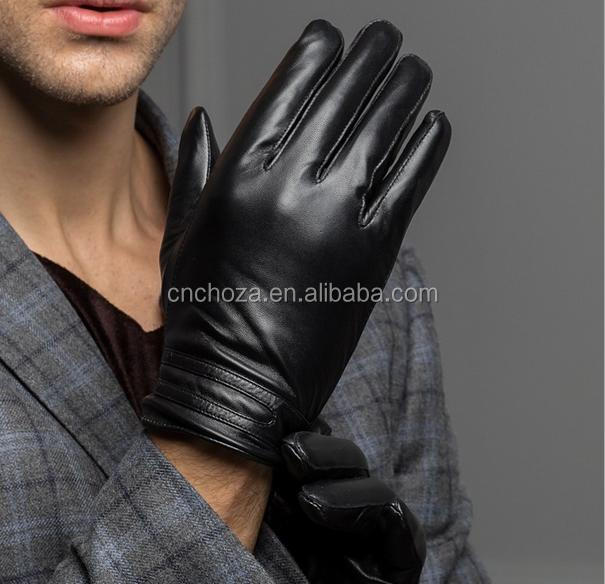 Z51422B New Men Winter Warm Leather Gloves Skiing Cycling Driving Riding Comfort