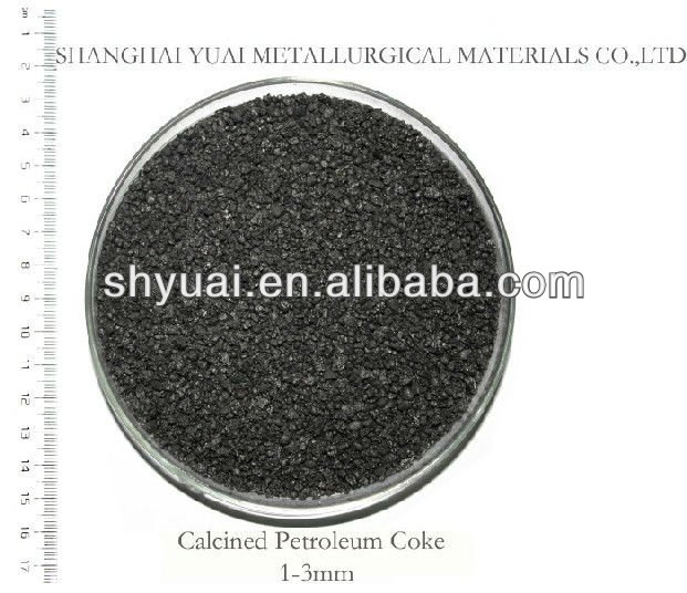 1-3mm High FC Low S Pitch Coke