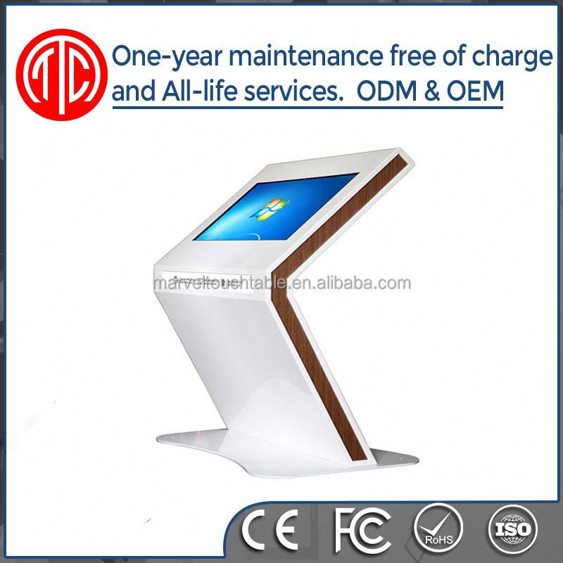 Floor Standing Multitouch screen kiosk with a4 printer