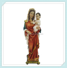 religious polyresin Mary and baby jesus figurines