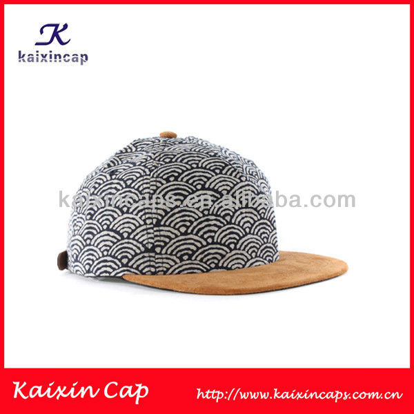 2013 Hot Design Wifi Screen Print 5 Panel Snap Back Hat Suede Brim Baseball Cap Sports Hat And Cap